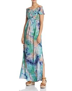 9663c221f9 AQUA - Smocked Tie-Dye Maxi Dress - 100% Exclusive ...