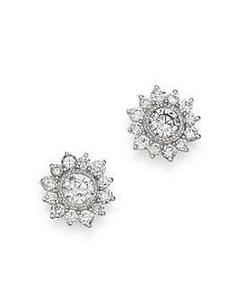 Bloomingdale's - Diamond Classic Milgrain Bezel Set Stud Earrings in 14K White Gold, 1.0 ct. t.w. - 100% Exclusive