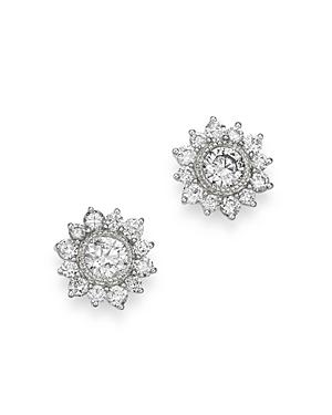 Bloomingdale's Diamond Classic Milgrain Bezel Set Stud Earrings in 14K White Gold, 1.0 ct. t.w. - 10
