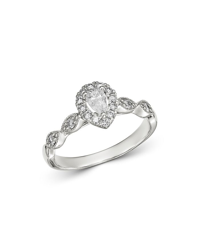 Bloomingdale's - Pear-Shaped Diamond Engagement Ring in 14K White Gold, 0.50 ct. t.w. - 100% Exclusive