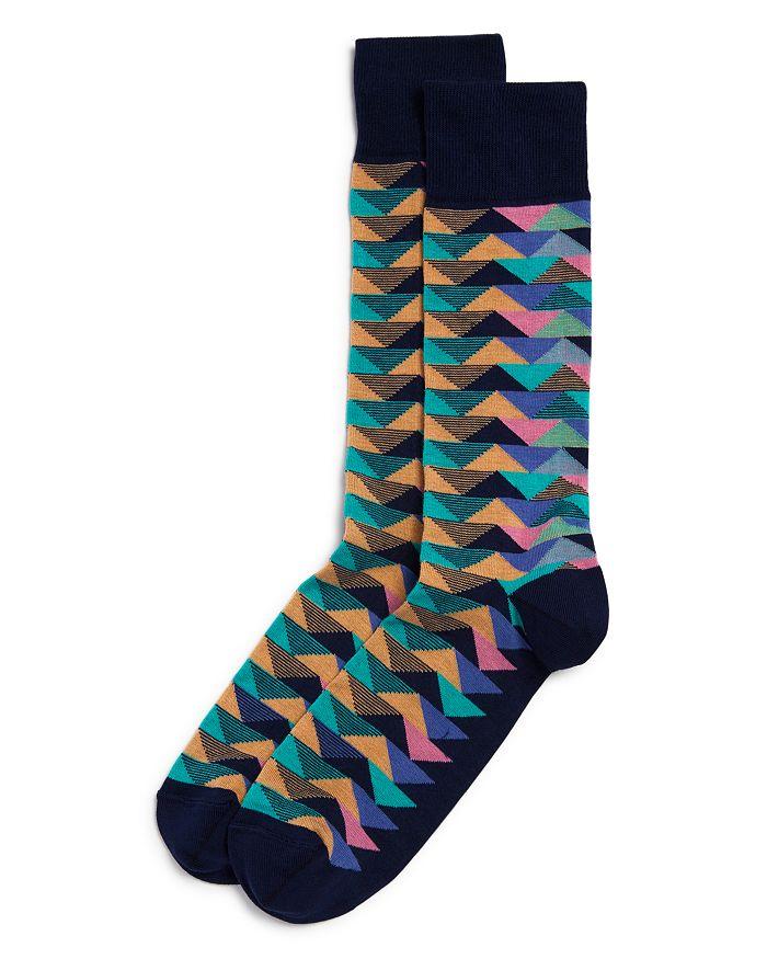 The Men's Store at Bloomingdale's - Millerighe Geometric-Pattern Socks - 100% Exclusive