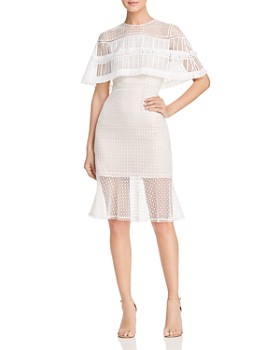 Elie Tahari - Janine Lace Cape Dress