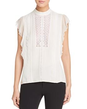 9f21bef2a40542 Elie Tahari - Antoinette Lace-Bib Silk Top ...