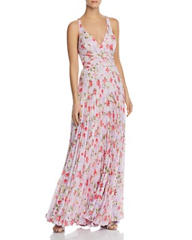 Laundry by Shelli Segal - Pleated Floral Gown