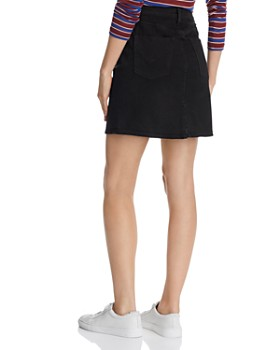 Hudson - Lulu Denim Mini Skirt in Black