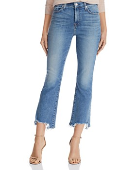 e0be502e614 7 For All Mankind - High-Waist Slim-Kick with Chewed-Hem Jeans ...