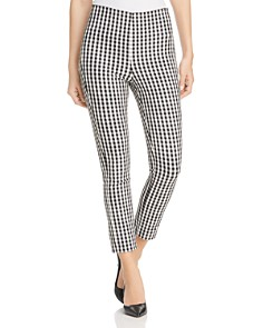 Elie Tahari - Jessalyn Gingham Cropped Pants