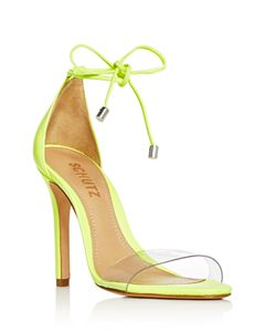 32358394d53 SCHUTZ Women s Ariella Clear Strap High-Heel Slide Sandals ...