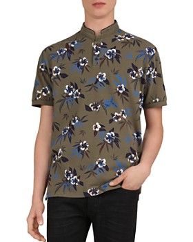 The Kooples - Floral Pi Slim Fit Polo Shirt