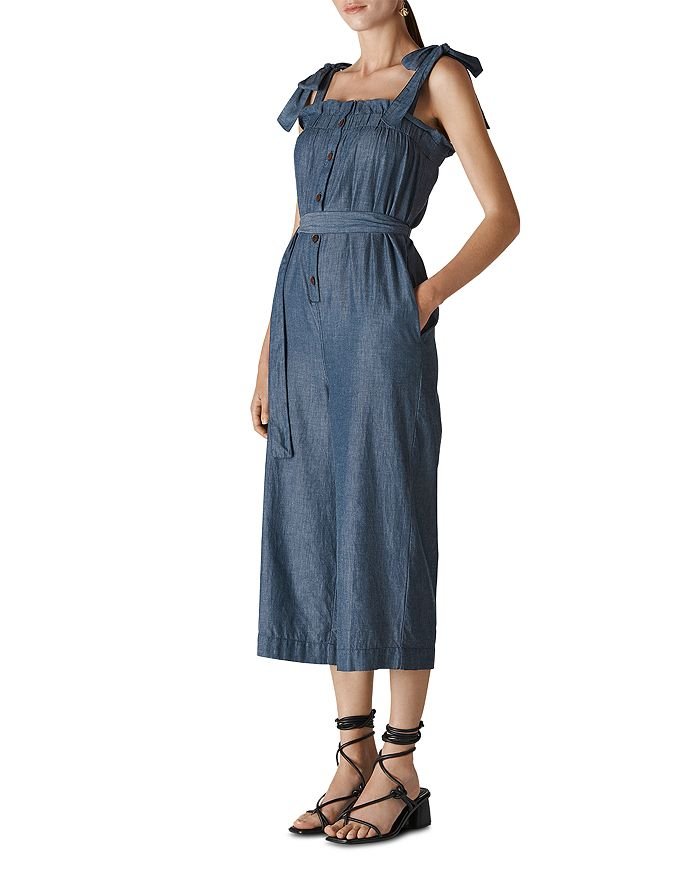 Whistles - Cropped Chambray Jumpsuit