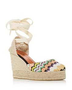Castañer - x Missoni Women's Carina Lace Up Platform Wedge Espadrille Sandals