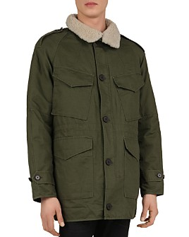 The Kooples - Oversized Parka with Shearling Collar