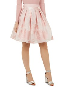 Ted Baker - Laiiya Pleated Floral Skirt