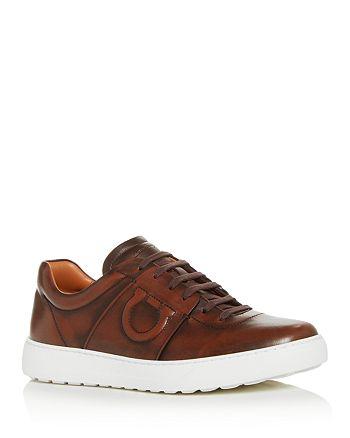 Salvatore Ferragamo - Men's Cult 6 Leather Low-Top Sneakers