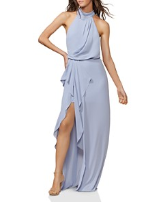 HALSTON HERITAGE - Draped Georgette Gown