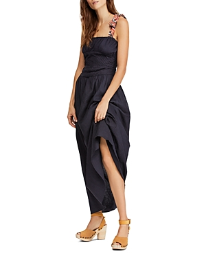 Free People Dresses SANTORINI SLEEVELESS PRINTED-STRAP MAXI DRESS
