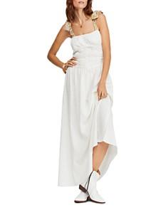 Free People - Santorini Sleeveless Printed-Strap Maxi Dress