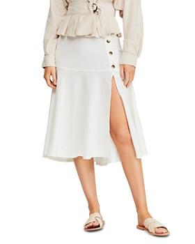 Free People - Poppy Flounced Midi Skirt