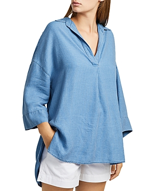 French Connection Julienne Oversized Striped Shirt