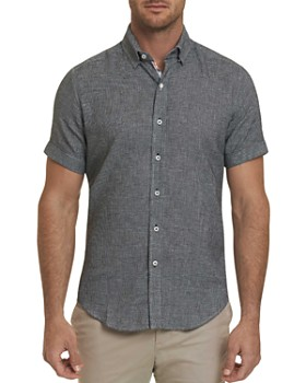Robert Graham - Liam Short-Sleeve Houndstooth Slim Fit Shirt