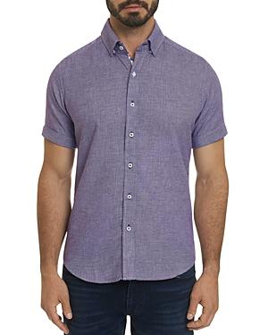 Robert Graham T-shirts LIAM SHORT-SLEEVE HOUNDSTOOTH CLASSIC FIT SHIRT