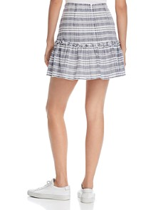 The Fifth Label - Ivy Ruffled Faded Plaid Mini Skirt
