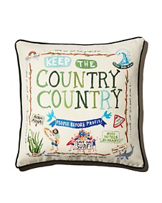 Aloha Zen - Keep the Country Country Embroidered Decorative Pillow