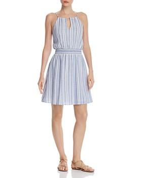 2cbabeb46a AQUA - Striped Fit-and-Flare Dress - 100% Exclusive ...