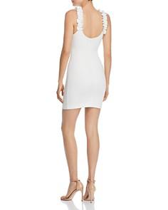 LIKELY - Elana Ruffled-Strap Mini Sheath Dress