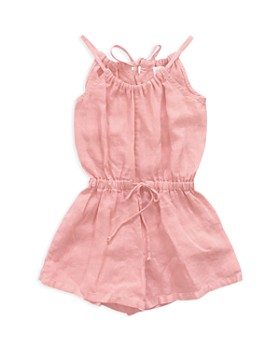 Bella Dahl - Girls' Linen Romper - Big Kid