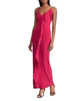 4a8233a267 Ralph Lauren - Ruffle-Trimmed Jersey Gown ...