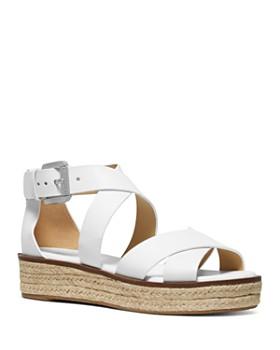 46ba3bf73dc7 MICHAEL Michael Kors - Women s Darby Leather Espadrille Sandals ...