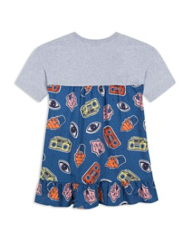 Kenzo - Girls' Kenzo Graphic Mixed-Media Dress - Little Kid