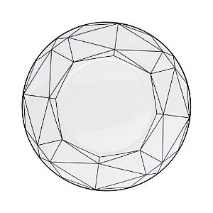 Prouna Gem Cut Onyx Salad/Dessert Plate