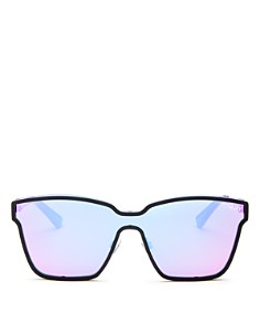Quay - Women's After Dark Mirrored Shield Sunglasses, 57mm