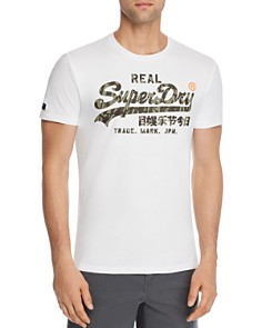 Superdry - Camouflage-Print Logo Graphic Tee