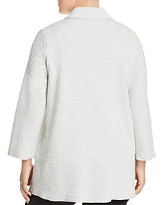 Eileen Fisher Plus - Textured Notch Collar Jacket