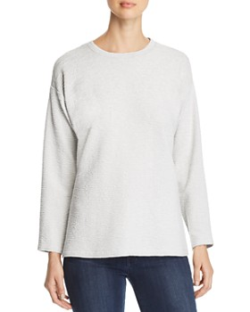 Eileen Fisher Petites - Plissé Side-Slit Top