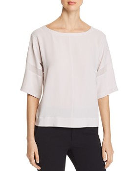 ac952acb2 Eileen Fisher - Silk Sheer-Stripe Top - 100% Exclusive ...