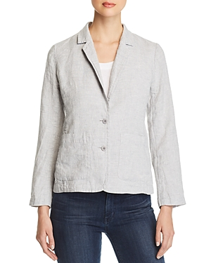 Eileen Fisher Blazers METALLIC-ACCENTED SHAPED BLAZER