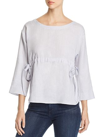 Eileen Fisher - Side-Tie Linen Top - 100% Exclusive
