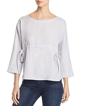 Eileen Fisher Petites Organic Linen Drawstring Top - 100% Exclusive