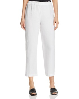 Eileen Fisher - Organic Linen Cropped Pants