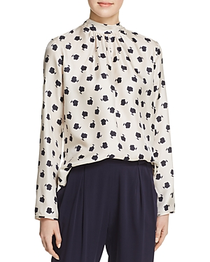 Max Mara Distel Shirred Printed Blouse-Women
