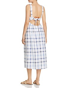 Red Carter - Grid-Print Midi Dress
