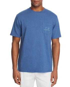 Vineyard Vines - Heathered Whale Logo-Print Pocket Tee