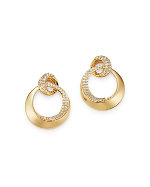 Diamond Door Knocker Earrings in 14K Yellow Gold, 0.50 ct. t.w. - 100% Exclusive