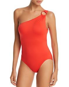 Carmen Marc Valvo - One-Shoulder One Piece Swimsuit