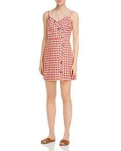 AQUA - Button Detail Plaid Dress - 100% Exclusive