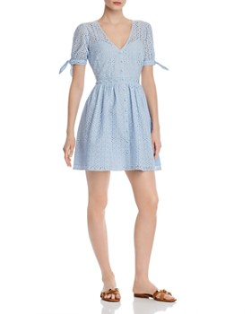 0dc403cf2 AQUA - Eyelet Fit-and-Flare Dress - 100% Exclusive ...